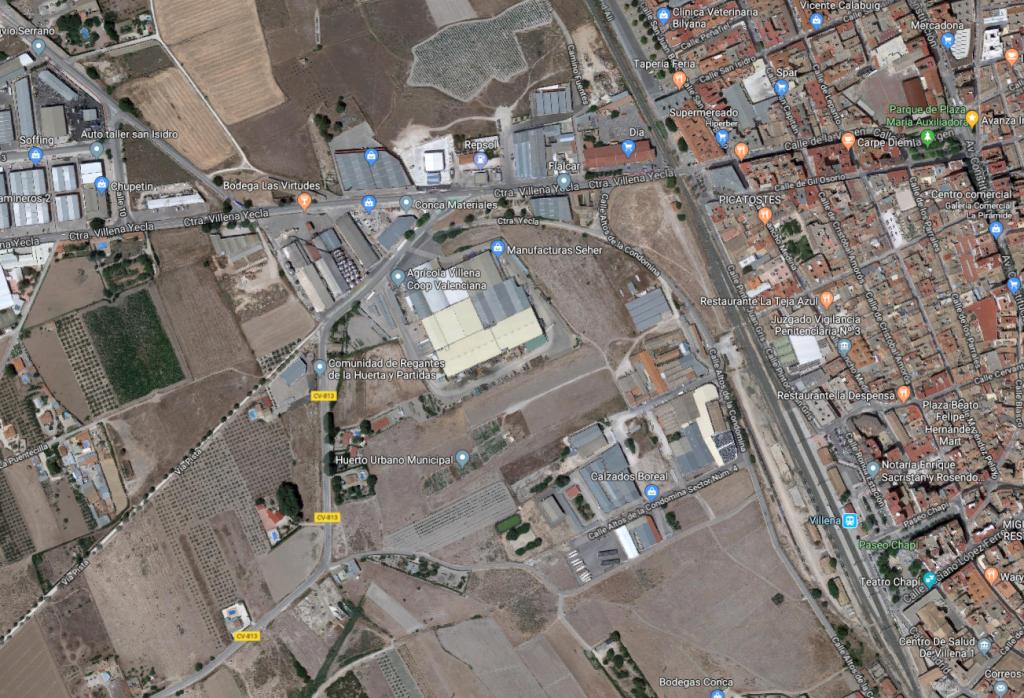 Poligono Industrial Altos de la Condomina en Villena