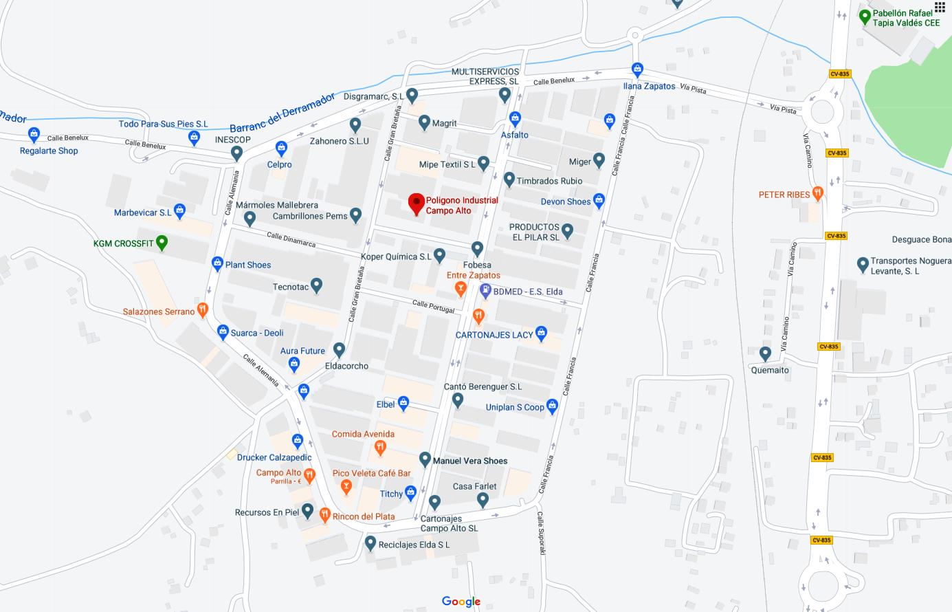 Polígono Industrial Campo Alto de Elda